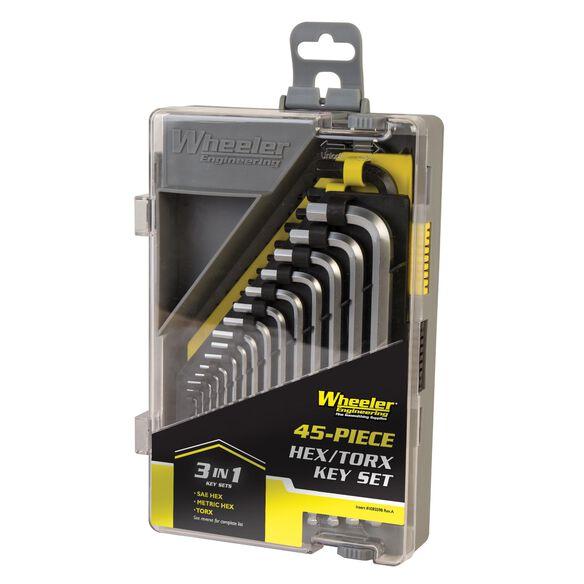 Wheeler 45 Piece SAE/Metric Hex and Torx Key Set