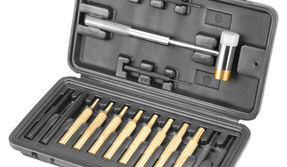 Hammer and Punch Set, Plastic Case
